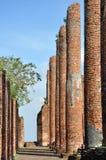 Förstört tempel på Wat Thammikarat Fotografering för Bildbyråer
