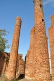 Förstört tempel på Wat Thammikarat Arkivbild