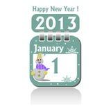 Först av Januari royaltyfri illustrationer