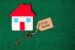 Först hem- hus - royaltyfri foto