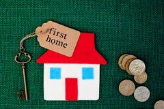 Först hem- hus - Royaltyfri Fotografi