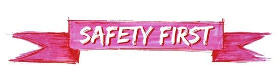 första band för säkerhet stock illustrationer