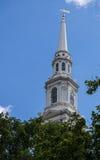 Första Baptist Church i Amerika Royaltyfria Foton