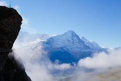 Första berg, Schweiz Arkivbild
