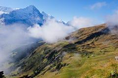 Första berg, Schweiz Royaltyfri Fotografi