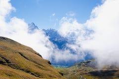 Första berg, Schweiz Royaltyfri Foto
