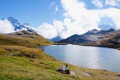 Första berg, Schweiz Royaltyfria Bilder