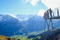 Första berg, Schweiz Royaltyfri Bild
