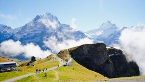 Första berg Schweiz Arkivbilder