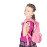 Första dag på skolan Fotografering för Bildbyråer