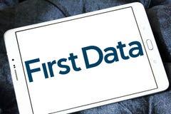 Första Data Korporation logo arkivfoton