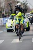 Första etapp av det Tirreno Adriatica loppet Royaltyfri Bild