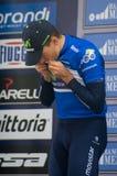 Första etapp av det Tirreno Adriatica loppet Royaltyfri Fotografi