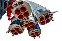 Första etapper och framdrivningdysor av rymdskeppet Vostok-1 Arkivbilder