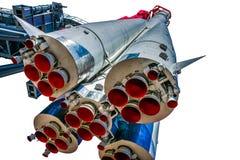 Första etapper och framdrivningdysor av rymdskeppet Vostok-1 Arkivbild