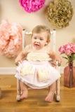Första födelsedag Photoshoot Royaltyfria Bilder
