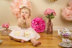 Första födelsedag Photoshoot Royaltyfri Bild