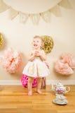 Första födelsedag Photoshoot Royaltyfri Fotografi