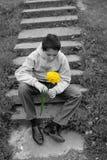 första förälskelse vänta Fotografering för Bildbyråer