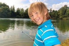 första fiskegång Royaltyfria Bilder