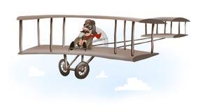 första flygplan Arkivbilder