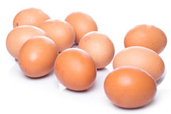 första fokus två för bruna ägg Royaltyfri Fotografi