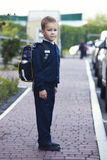 Första gång går till skolan Royaltyfri Fotografi