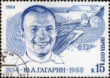 första gagarin för astronaut man yuri Royaltyfria Bilder