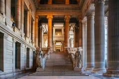 Första golv av slotten av rättvisa av Bryssel arkivbild