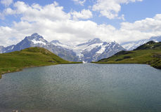 Första Grindelwald Arkivfoto