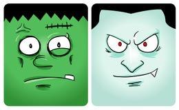 första halloween monsterserie Arkivfoton