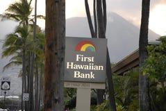 FÖRSTA HAWAIANSKA BANK Arkivfoton