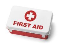 Första hjälpen Kit Red Royaltyfri Foto