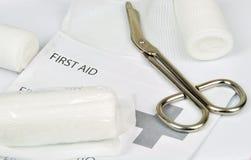 Första hjälpenutrustning Arkivfoto