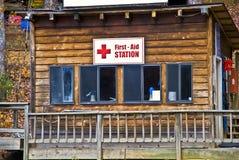 Första hjälpstation Arkivfoto
