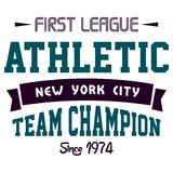 Första idrotts- liga Royaltyfri Foto