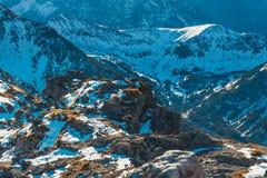 Första insnöat bergen, Tatra berg arkivbilder