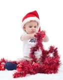 Första jul av en behandla som ett barnpojke Royaltyfri Bild
