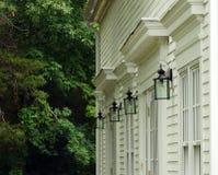 Första kyrkliga kongregationalistiska koloniala arkitektur Fotografering för Bildbyråer