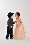 Första kyss. Royaltyfria Foton