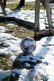 Första fotbollmål för säsonger Arkivbilder
