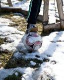 Första fotbollmål för säsonger Arkivbild