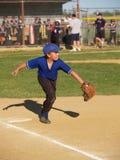 första liga för baseballbaseman little royaltyfri bild