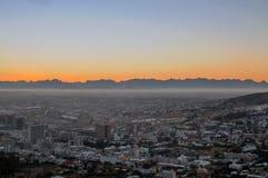 Första ljus - Cape Town, Sydafrika Royaltyfri Bild