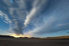 Första ljus på den Delamar dalen, Nevada, royaltyfri foto