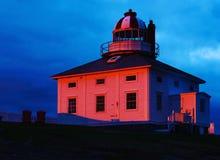 Första ljus på det ljusa huset royaltyfri fotografi