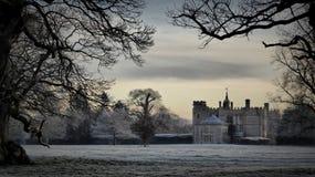Första ljus, Rousham, Oxfordshire Royaltyfri Fotografi