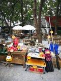 Första marknad som ska säljas om att campa från Thailand Arkivbilder