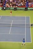 första match för 2010 koppdavis finaler Royaltyfri Foto