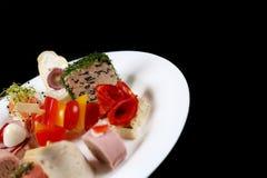 Första maträtt i en platta Royaltyfria Foton